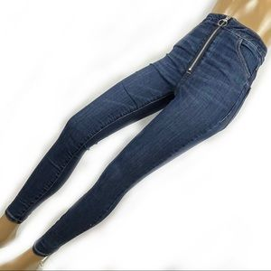 GARAGE Denim High Waist Jeans Skinny Size 0 Zipper